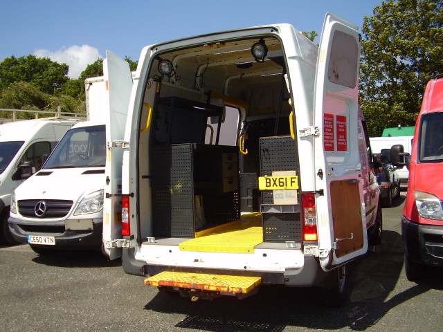 2011(61) TRANSIT 100 T350M MOBLE WORKSHOP £6,500.00 MWB HI- ROOF 2.4